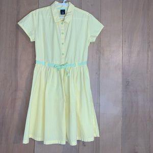 GAP Girls Yellow Gingham Shirtdress. Size 7/8